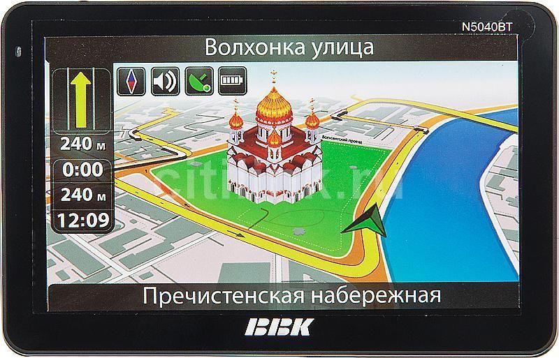 GPS навигатор BBK N5040BT,  5