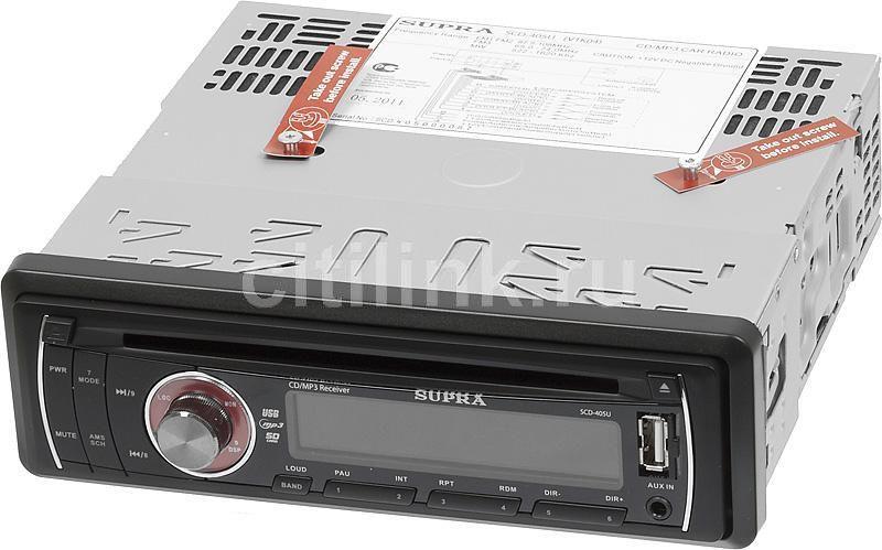 Автомагнитола SUPRA SCD-405U,  USB,  SD/MMC