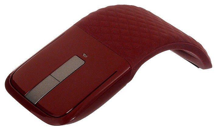 Мышь MICROSOFT Arc RVF-00017 оптическая беспроводная USB, красный