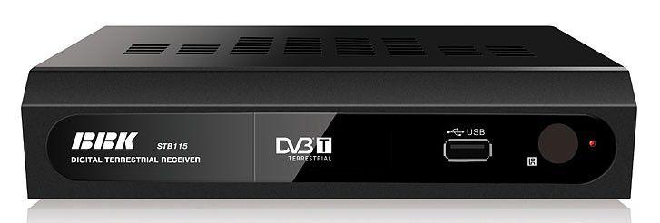 Ресивер DVB-T BBK STB115,  черный