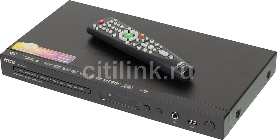 DVD-плеер BBK DVP953HD,  черный,  диск 500 песен [(dvd) player dvp953hd+д500 чер]