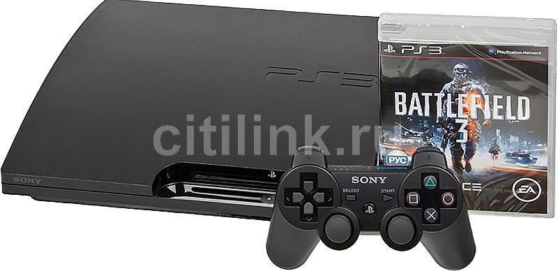 Игровая консоль SONY PlayStation 3 PS719289913, черный