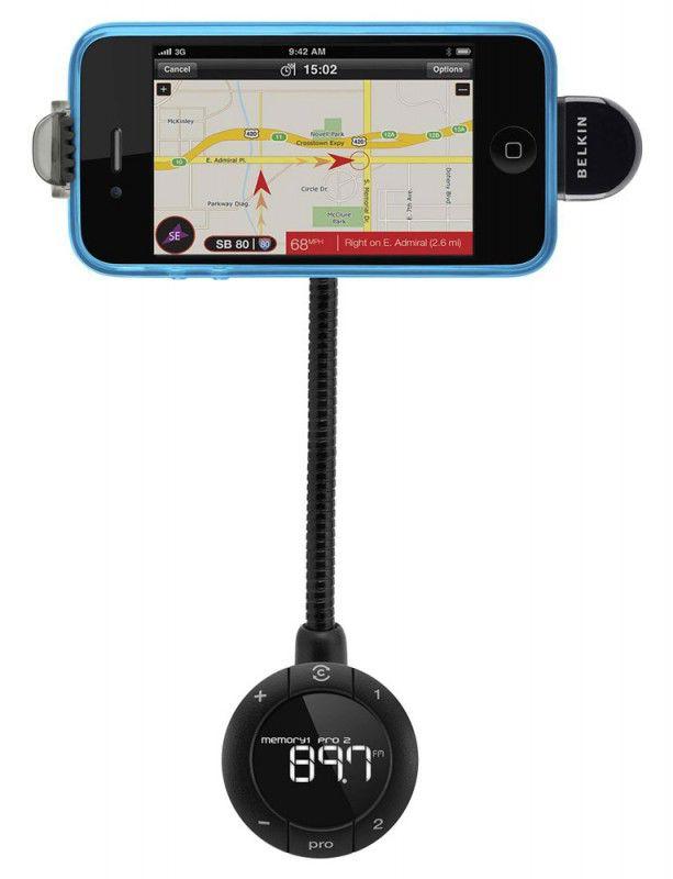 Автомобильная гарнитура BELKIN Tunebase FM 6 F8Z618cw,  Apple iPhone 4,  черный
