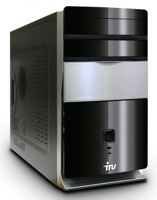 Компьютер  IRU Corp 320,  AMD  Athlon II X2  240,  DDR3 2Гб, 500Гб,  nVIDIA GeForce 7025,  DVD-RW,  noOS,  черный и серебристый