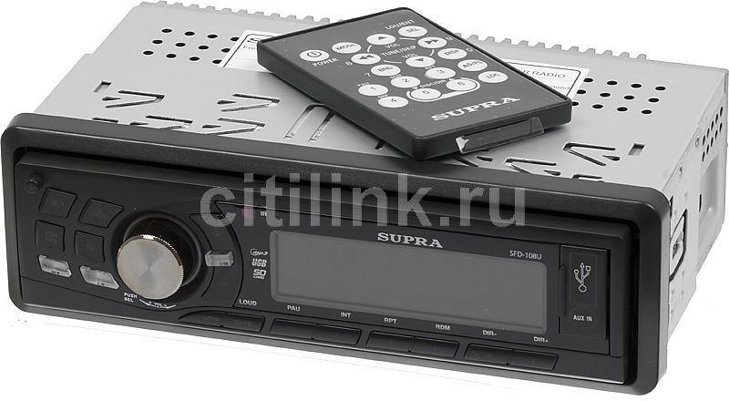 Автомагнитола SUPRA SFD-108U,  USB,  SD/MMC