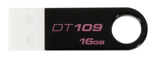 Флешка USB KINGSTON DataTraveler 109 16Гб, USB2.0, черный и белый [dt109k/16gb]