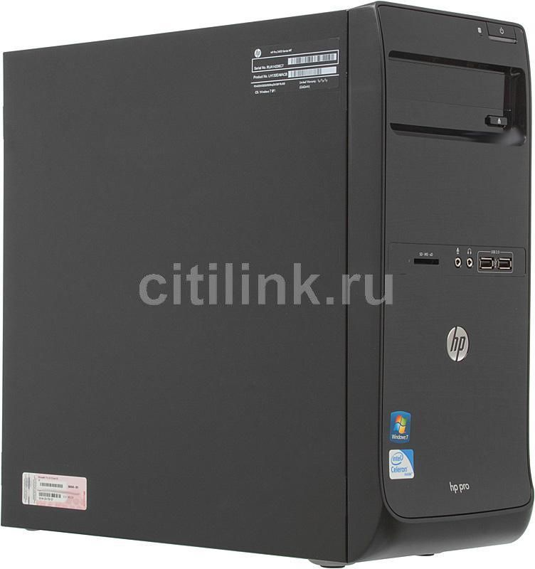 Компьютер  HP Pro 3400,  Intel  Celeron  G530,  DDR3 2Гб, 500Гб,  Intel HD Graphics,  без ODD,  Windows 7 Professional,  черный [a2j74es]