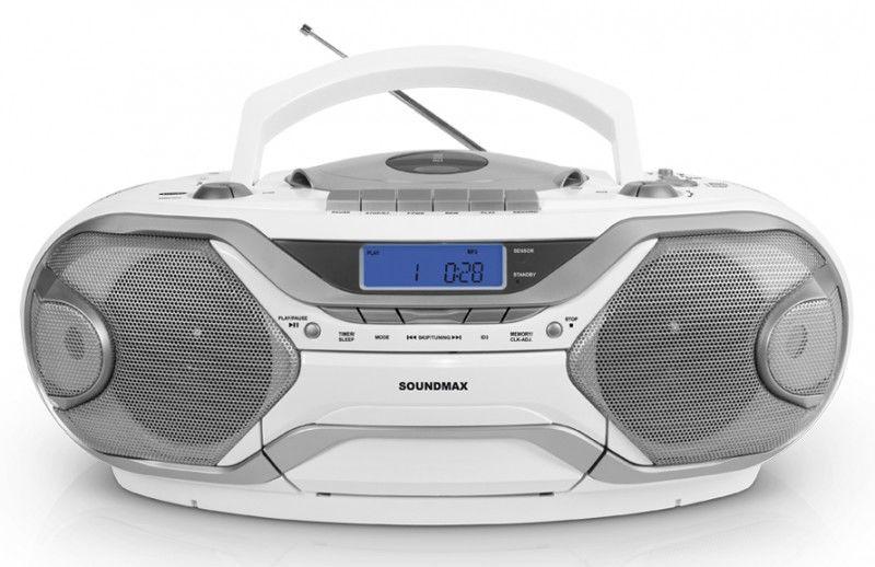 Аудиомагнитола SOUNDMAX SM-2402,  белый