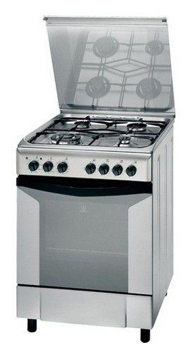 Газовая плита INDESIT KN6G217 SX,  газовая духовка,  серебристый