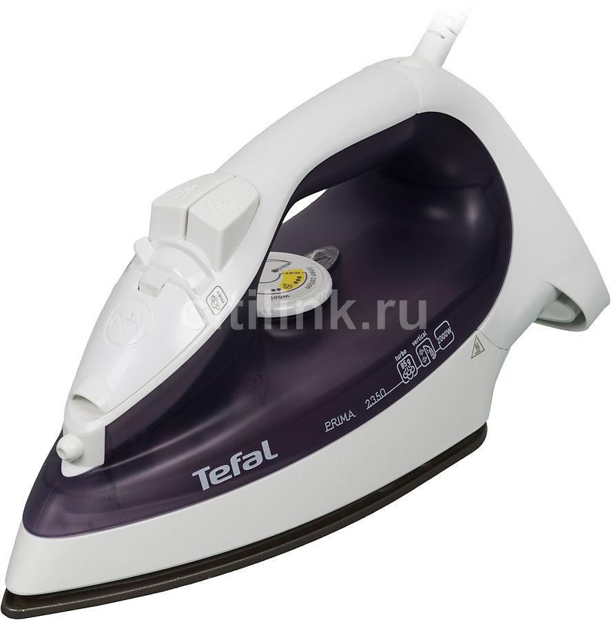 Утюг TEFAL FV2350,  2000Вт,  белый/ фиолетовый [2820235050]
