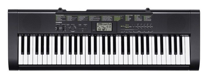 Синтезатор CASIO CTK-1150, 61, невзвешенная, полноразмерные, 12, черный