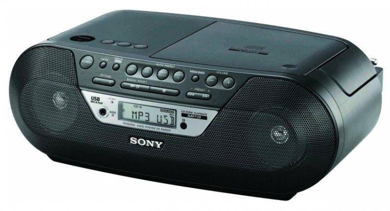 Аудиомагнитола SONY ZS-RS09CP,  черный