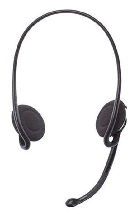 Наушники с микрофоном LOGITECH Stereo Headset H230,  981-000405,  накладные, красный  / черный