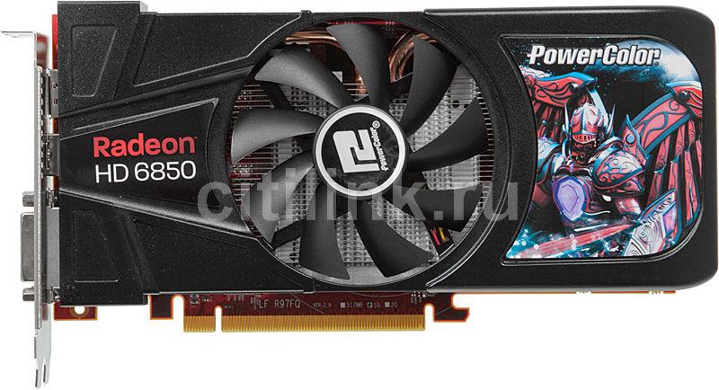 Видеокарта POWERCOLOR Radeon HD 6850,  1Гб, GDDR5, Ret [axp6850 1gbd5-dh]