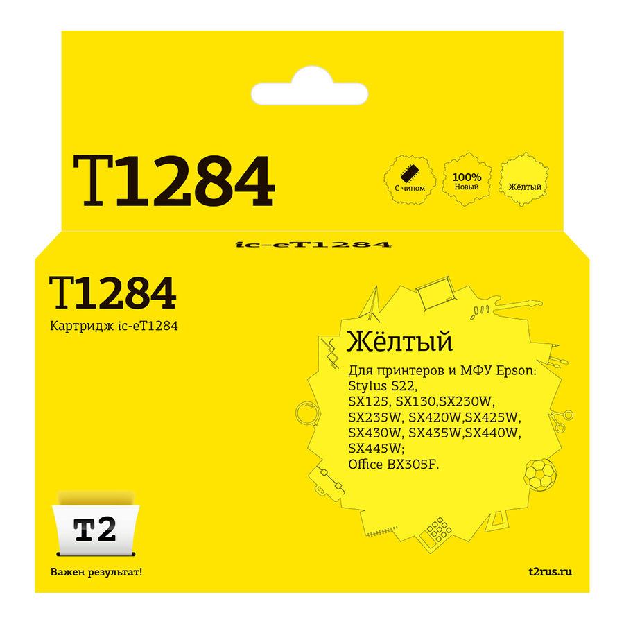 Картридж T2 T12844010 желтый [ic-et1284]