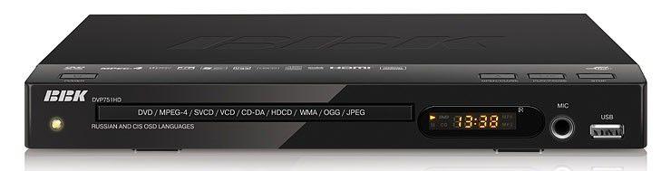 DVD-плеер BBK DVP751HD,  черный,  диск 500 песен