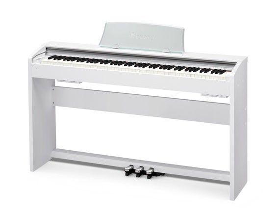 Цифровое фортепиано PRIVIA CASIO PX-735WE, 88, полновзвешенная, полноразмерные, 128, белый