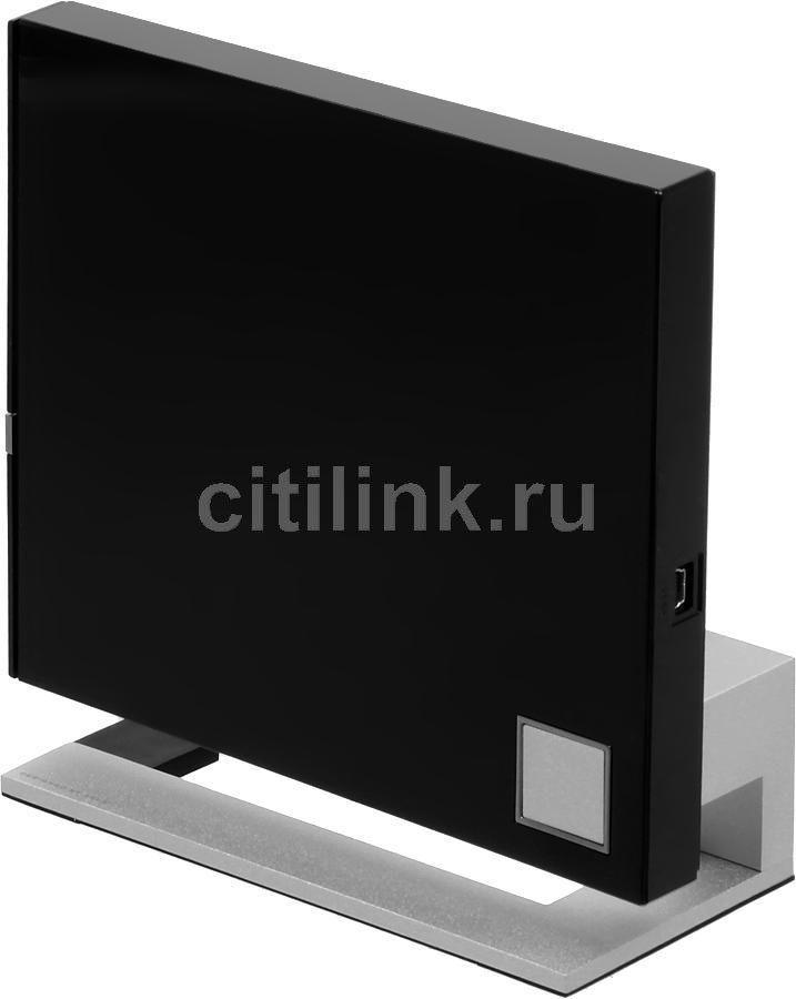 Оптический привод Blu-Ray RE ASUS SBW-06C2X-U/BLK/G/AS, внешний, USB, черный + серебристый,  Ret
