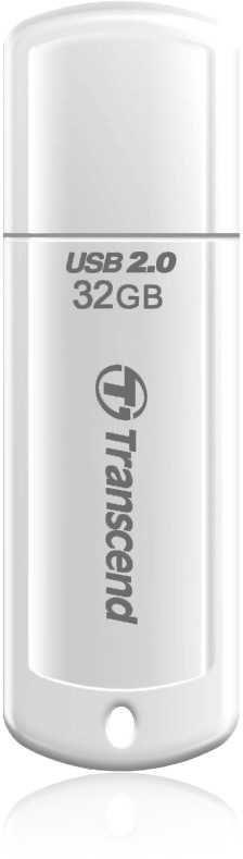 Флешка USB TRANSCEND Jetflash 370 32Гб, USB2.0, белый [ts32gjf370]