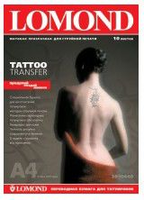 Термотрансфер Lomond Tattoo 2010440 A4/10л./прозрачный самоклей. для струйной печати втулка:50.8мм (