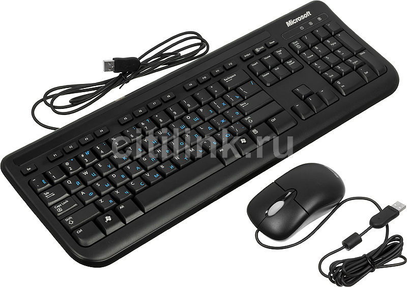 Комплект (клавиатура+мышь) MICROSOFT 400, USB, проводной, черный [eyd-00016]