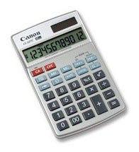 Калькулятор CANON LS-22 TC,  12-разрядный, серый