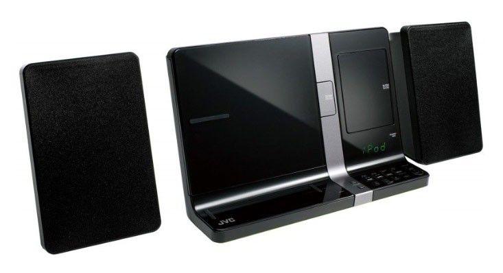 Док-станция JVC UX-VJ5BE черный (iPhone, iPod, iPad) CD, MP3