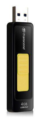 Флешка USB TRANSCEND Jetflash 760 4Гб, USB3.0, черный и желтый [ts4gjf760]