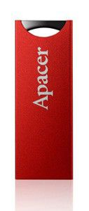 Флешка USB APACER AH133 16Гб, USB2.0, красный [ap16gah133r-1]