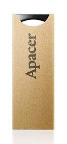 Флешка USB APACER AH133 8Гб, USB2.0, золотистый [ap8gah133c-1]