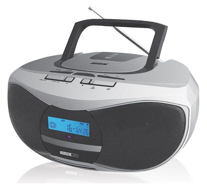 Аудиомагнитола BBK BX102U,  серебристый и черный