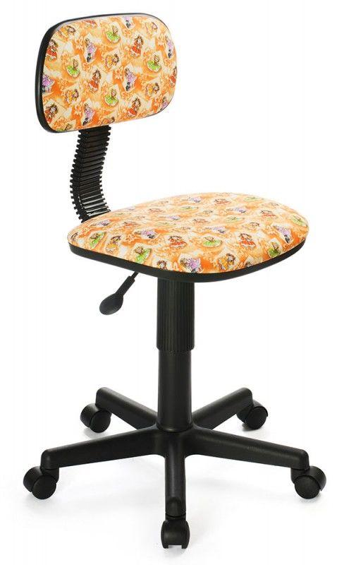 Кресло детское БЮРОКРАТ Ch-201NX, на колесиках, ткань, оранжевый [ch-201nx/dolls-or]