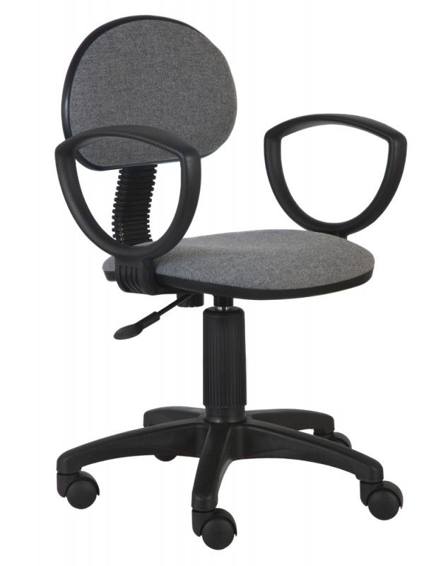 Кресло БЮРОКРАТ Ch-213AXN, на колесиках, ткань, серый