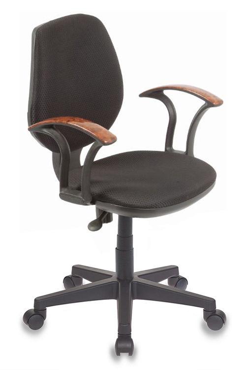 Кресло БЮРОКРАТ Ch-725AXSN, на колесиках, ткань, черный/черный [ch-725axsn/b]