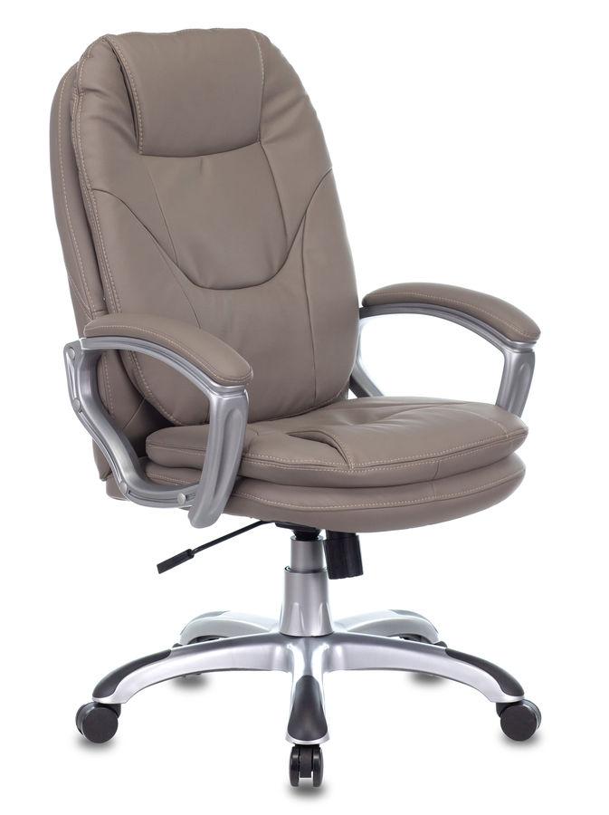 Кресло руководителя БЮРОКРАТ Ch-868AXSN, на колесиках, искусственная кожа, серый [ch-868saxsn/grey]