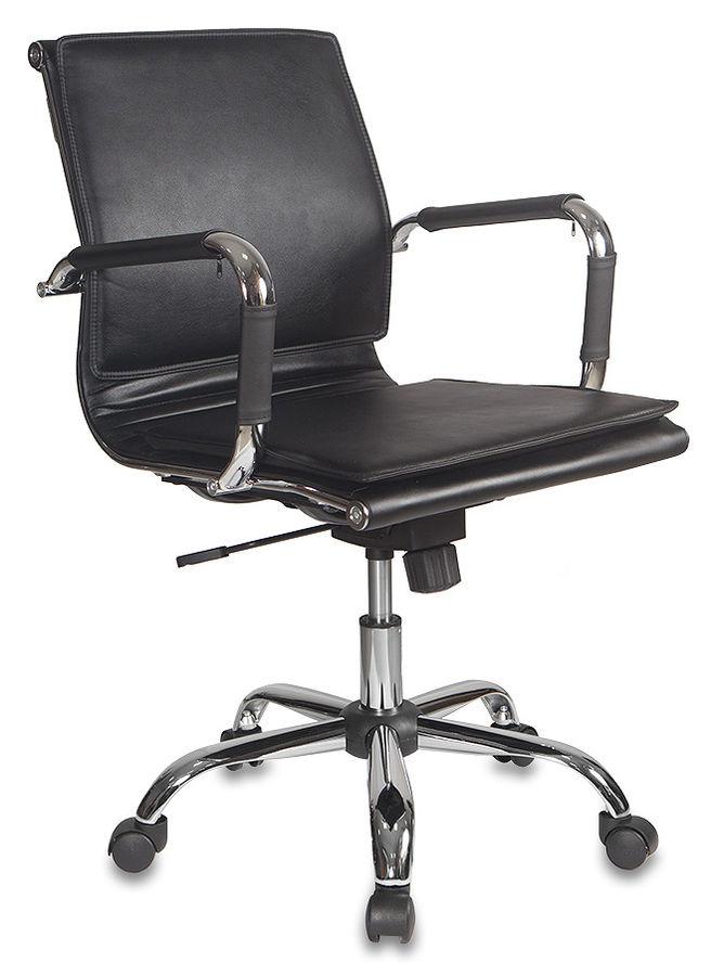 Кресло руководителя БЮРОКРАТ Ch-993-Low, на колесиках, искусственная кожа, черный [ch-993-low/black]