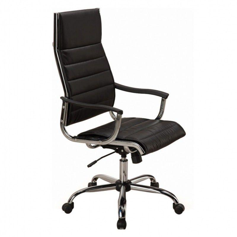 Кресло руководителя БЮРОКРАТ Ch-994, на колесиках, искусственная кожа, черный