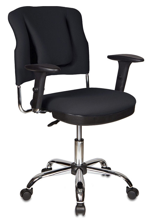 Кресло БЮРОКРАТ Ch-H323AXSN, на колесиках, ткань, черный [ch-h323axsn/b]
