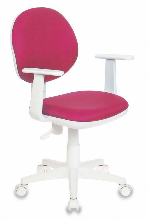 Кресло детское БЮРОКРАТ Ch-W356AXSN, на колесиках, ткань, розовый [ch-w356axsn/15-55]