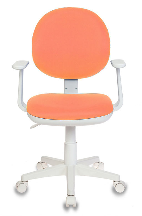 Кресло детское БЮРОКРАТ Ch-W356AXSN, на колесиках, ткань, оранжевый [ch-w356axsn/15-75]