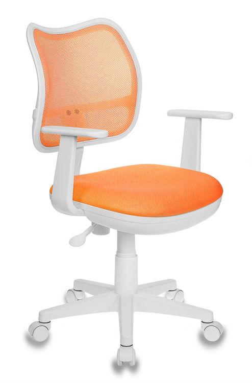 Кресло детское БЮРОКРАТ Ch-W797, на колесиках, ткань, оранжевый [ch-w797/or/tw-96-1]