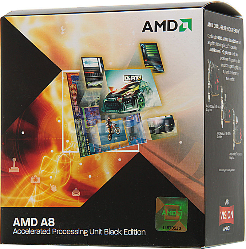 Процессор AMD A8 3870K, SocketFM1 BOX [ad3870wngxbox]