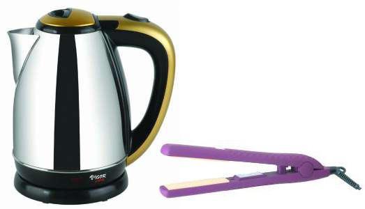 Чайник электрический VIGOR HX-2050 + выпрямитель HX-8171, 2000Вт, серебристый