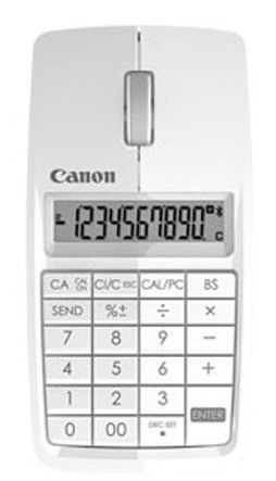 Калькулятор/Мышь CANON X Mark I Mouse,  10-разрядный, белый