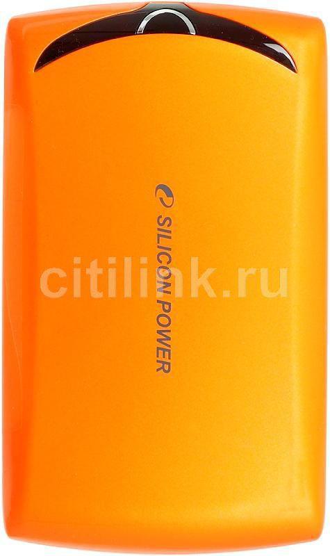 Внешний жесткий диск SILICON POWER Stream S10, 1Тб, оранжевый [sp010tbphds10s3o]