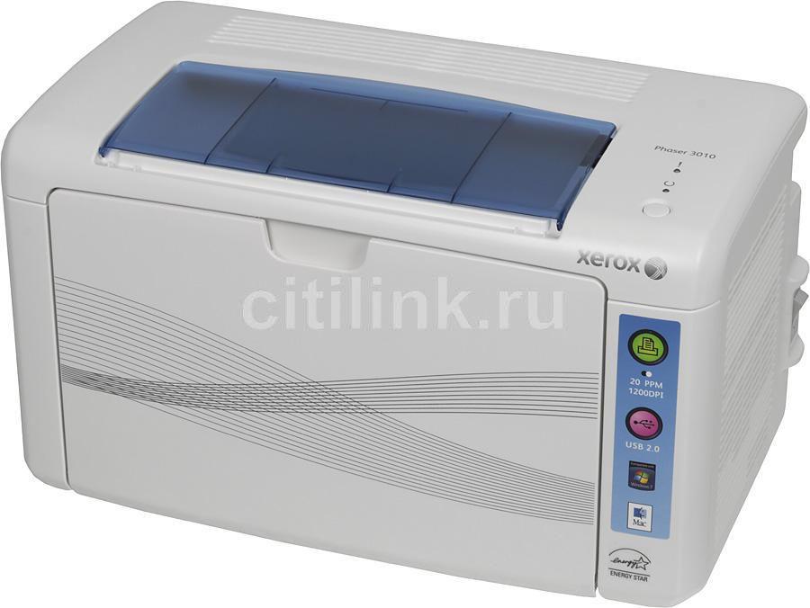 Принтер XEROX Phaser 3010 светодиодный, цвет:  белый [100s66153/100s66474]