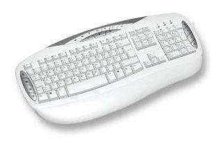 Клавиатура CHICONY KB-0503,  PS/2, c подставкой для запястий, белый