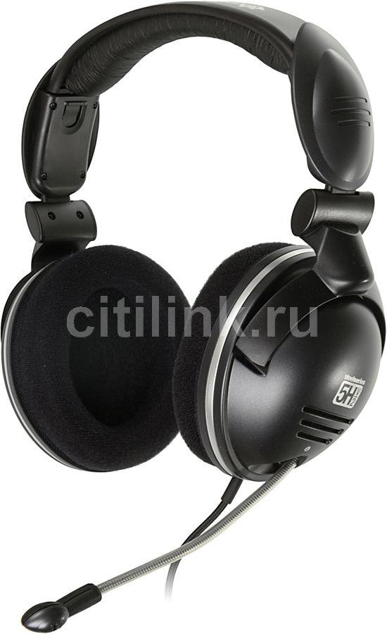 Наушники с микрофоном STEELSERIES 5H v2 USB,  мониторы, черный  [61001]