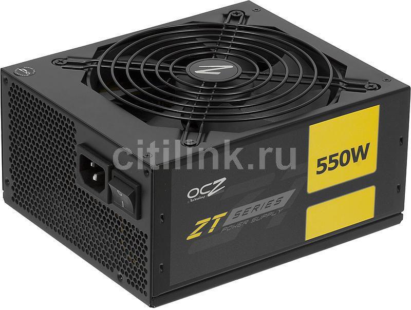 Блок питания OCZ ZT550W,  550Вт,  140мм,  черный, retail