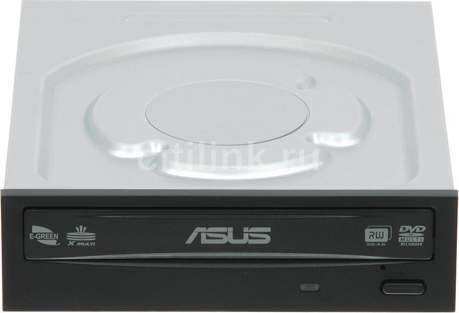 Оптический привод DVD-RW ASUS DRW-24B5ST, внутренний, SATA, черный,  OEM [drw-24b5st/blk/b/as]